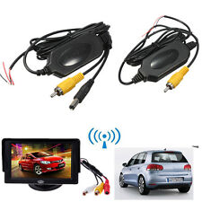 2.4G Wireless Car Kit RCA Video Transmitter Receiver Rear View Camera Monitor