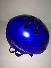 Razor V-17 Child Multi-sport Helmet (Blue Gloss) Some Paint Damage