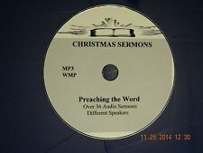 THE BIRTH OF JESUS  AUDIO SERMONS, OVER 36 on 1 CD,  MP3