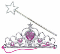 6 Silver Princess Tiara & Wand Sets - Pinata Toy Loot/Party Bag Fillers Wedding/