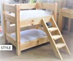MADE TO MEASURE SOLID PINE BUNK BEDS FOR YOUR CATS OR DOGS