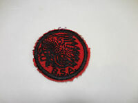 "Vintage Boy Scout BSA Indian Chief Patrol Badge Patch Red 2"" Old Collectible"
