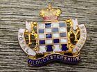 Vintage WWI ROYAL GLOUCESTERSHIRE HUSSARS Enamel Sweetheart Pin Badge Brooch