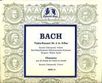 Bach - Ricardo Odnoposoff - Violin - Line Walter Goehr LP L9011