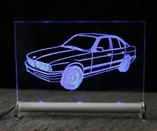 BMW E34 limo LED Leuchtschild   5er Autogravur