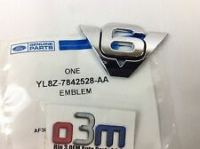"Ford Escape Rear lift gate Chrome ""V6"" NAMEPLATE Emblem OEM new YL8Z-7842528-AA"