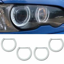 White Crystal LED Angel Eye Halo Ring Retrofit Lights For BMW E46 E39 E38 E36