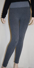 First Looks Size L/XL Black Grey Gingham Seamless Leggings NEW