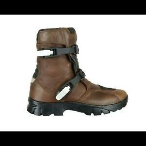 MOTORBIKE RIDER MOTORCYCLE BOOTS SHOES GENUINE TOP GRAIN LEATHER BROWN OFFER
