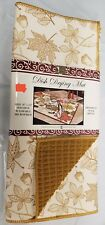 """Kitchen Microfiber Quick Drying Mat, washable (16""""x24"""") LEAVES & ACORNS,brown,BH"""