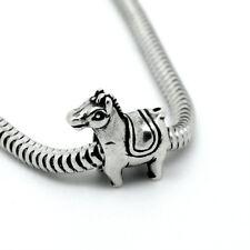 PONY CAVALLO-ASINO-animali-Solido 925 argento Sterling Charm Bead Europeo