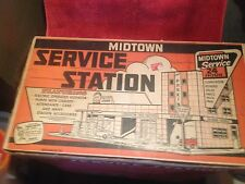 VINTAGE OLD STORE STOCK MARX MIDTOWN SERVICE STATION MODEL # 3496 MIB HUGE SET