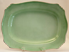 "ROYAL WINTON Grimwades PASTEL WARE GREEN 12"" Ascot Oval Platter  1934+ Mark"