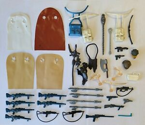 Vintage Kenner Star Wars Lot of 40 Original Accessories, Weapons and Capes