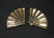 'GOLD' FOLDING FAN MENUKI: Japanese Samurai Sword Katana Decoration
