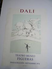 Lithograph Poster Salvador Dali Exhibition 1974 Teatro Museo FIGUERAS, 73x52cm F