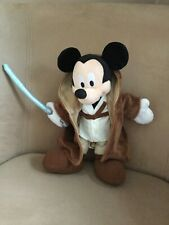 """Mickey Mouse Star Wars Jedi Soft Plush toy 11"""" Disney World Rare in this country"""
