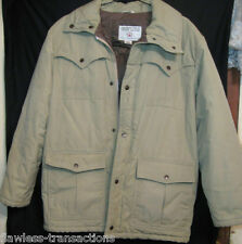 SHEPLERS Sz XL Down Filled Water Resistant Mens Winter Khaki Coat Size Large