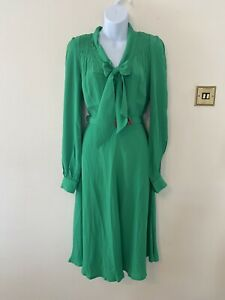 The Seamstress Of Bloomsbury Eva Dress In Apple Green Size 8 BNWT RRP £89