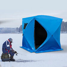 """2-4 Person Ice Fishing Shelter 80"""" Pop up Tent Outdoor Portable House w/Bag"""