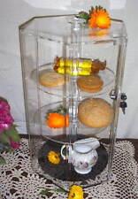 3 Shelf HEX COUNTER DISPLAY SHOWCASE Locks Revolves Plexiglass JEWELRY BAKERY