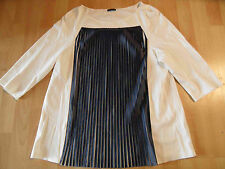 PENNYBLACK chices Shirt 3/4 Ärmel Plissefalten creme blau Gr. XL w. NEU SJ116