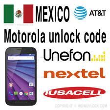 Motorola Unlock Mexico Unefon Nextel Iusacell X4 Z Z2 Play G G2 E 2nd 3rd X Play