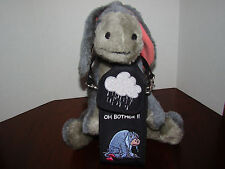 "Eeyore - One Approx. 8"" Plush and One Cell Phone Holder - Used"