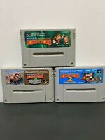 SUPER FAMICOM Donkey Kong 1, 2, 3 SET - JAPANESE VERSION #