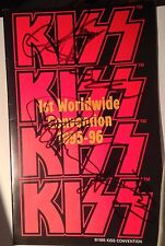 KISS World Convention 1st 1995 Autographed Program Gene Simmons,Paul