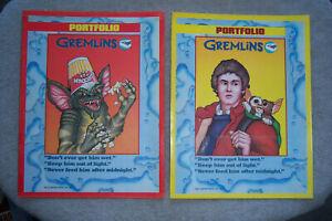 vintage GREMLINS FOLDER BINDER PORTFOLIO 1984 Warner Brothers