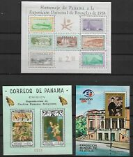 LATIN AMERICA  -  LOT OF 15  SOUVENIR SHEETS   - 4 IMAGES