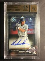 2017 Bowman Chrome Draft Auto Keston Hiura rookie BGS 9.5 Gem Mint with 10.