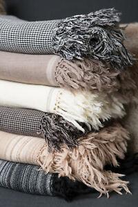 Merino Wool Luxury Large Throw Blanket Rug