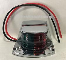"""Boat Navigation 3"""" Chrome BOW LIGHT Bi-Color Red Green Lens Fixed Mount 12 Volt"""