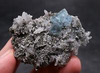 70g Rare Transparent Blue Fluorite Crystal Mineral Specimen/China