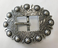 """WESTERN HORSE HEADSTALL BRIDLE SADDLE ANTIQUE BERRY CART BUCKLE FITS 3/4"""" STRAP"""