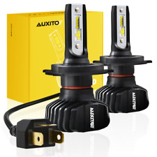 AUXITO H4 9003 HB2 Csp LED Headlight Kit 9000LM Hi-Lo Beam Bulb Fanless 6K WHITE