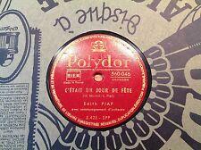 78 rpm-Edith PIAF - J'ai dansé avec l'amour- POLYDOR 560046