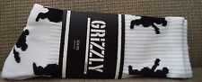 GRIZZLY GRIPTAPE REPEAT SOCKS LOGO WHITE CREW ADULTS *NEW*