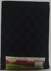 Food Network Stain Resistant Microfiber Black 60x84 Oblong Tablecloth NWT