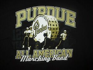 PURDUE ALL AMERICAN MARCHING BAND T SHIRT World's Largest Drum Boilermakers LG