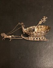 Miniature Sterling Silver horse-drawn sleigh