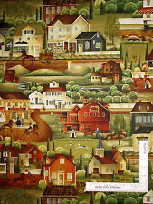 Barn House Store Wagon Scenic Cotton Fabric Windham 41273 Country Store - Yard