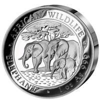 1 oz Silber PP 2013 Somalia 100 Shilling Elefant High Relief Auflage 1000 Münzen