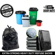 More details for black bin rubbish bags extra strong heavy duty large waste refuse sacks liners