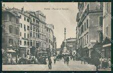 Roma Città Piazza di Spagna Tram cartolina QT1982