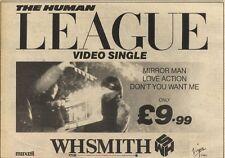 5/3/83PN45 ADVERT: THE HUMAN LEAGUE VIDEO SINGLE MIRROR MAN AT WHSMITH