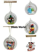 Disney Christmas Tree Hanging Baubles Decorations Stitch Monster Mickey Primark