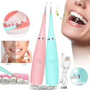 Electric Sonic Dental Scaler Tartar Calculus Plaque Remover Teeth Stains Cleaner